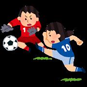 女子サッカーのイラスト